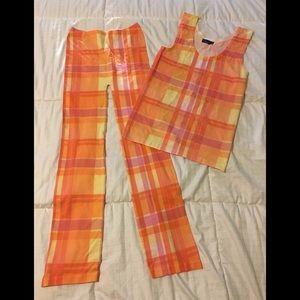 Plaid leggings and tank set
